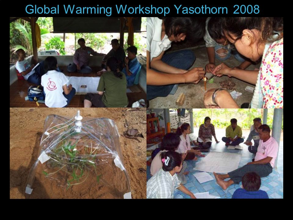 Global Warming Workshop Yasothorn 2008