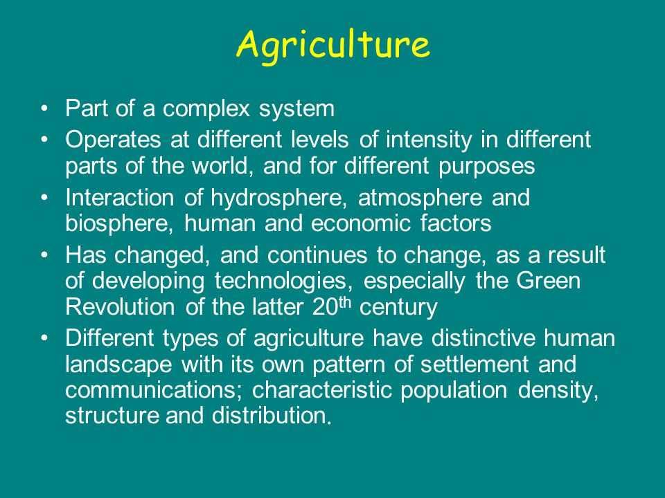 Shifting cultivation and low population densities