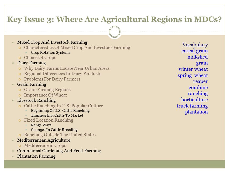  Mixed Crop And Livestock Farming Characteristics Of Mixed Crop And Livestock Farming Crop Rotation Systems Choice Of Crops  Dairy Farming Why Dairy