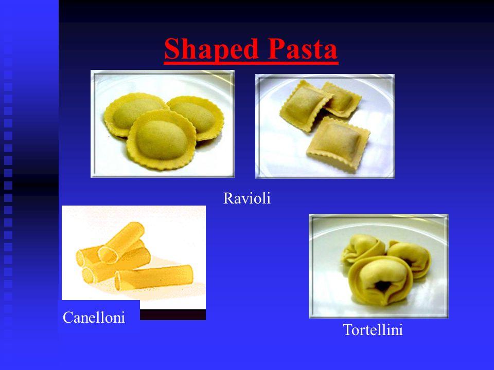 Shaped Pasta Ravioli Tortellini Canelloni