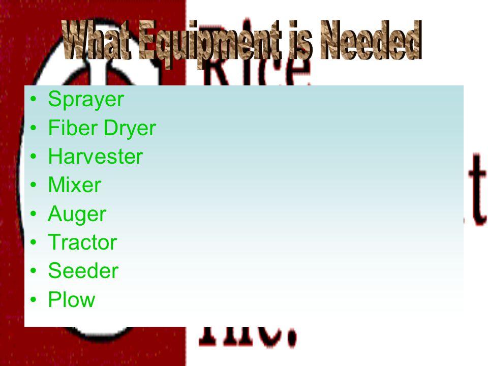 Sprayer Fiber Dryer Harvester Mixer Auger Tractor Seeder Plow