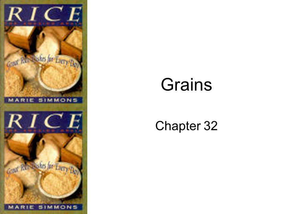Other Grains Millet: Small, yellow grains with a mild flavor.