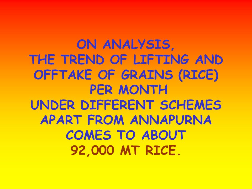 TILL 27-01-2006, THE CORPORATION HAS PROCURED 1.00 LAKH MT RICE.