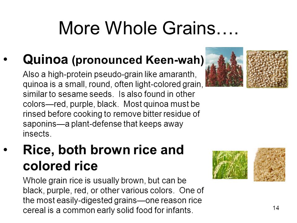 14 More Whole Grains….