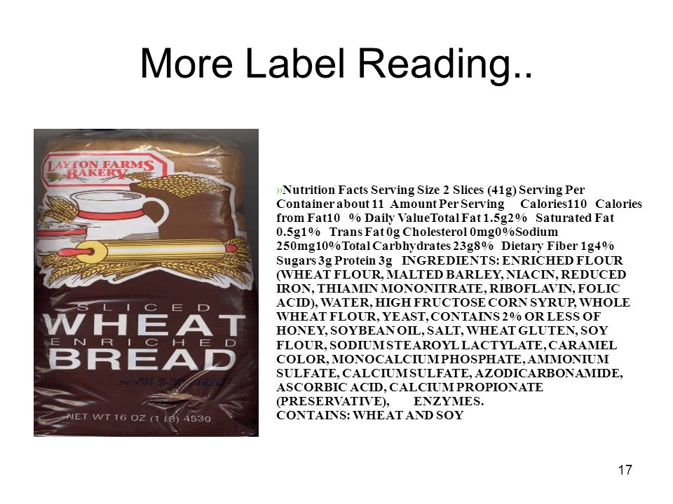 17 More Label Reading..
