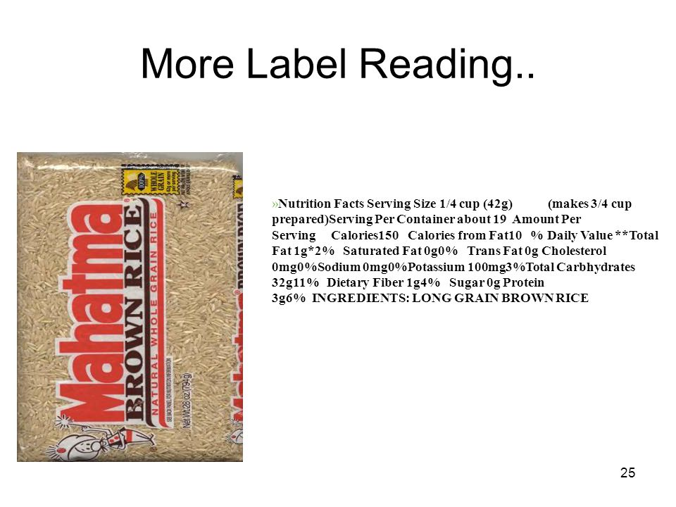 25 More Label Reading..