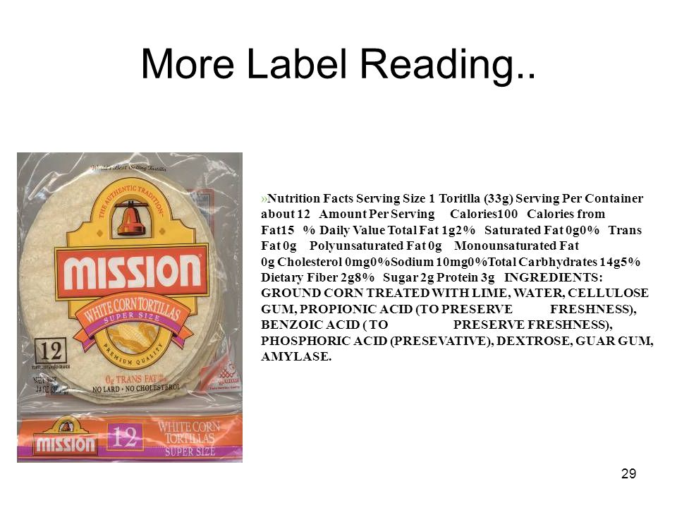 29 More Label Reading..