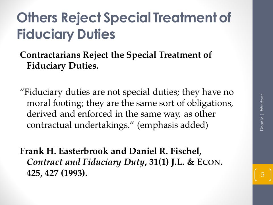 Tort Remedies and the Fiduciary Relationship Restatement (Second) of Torts § 874 (1979) Lake Placid Holding, Co.