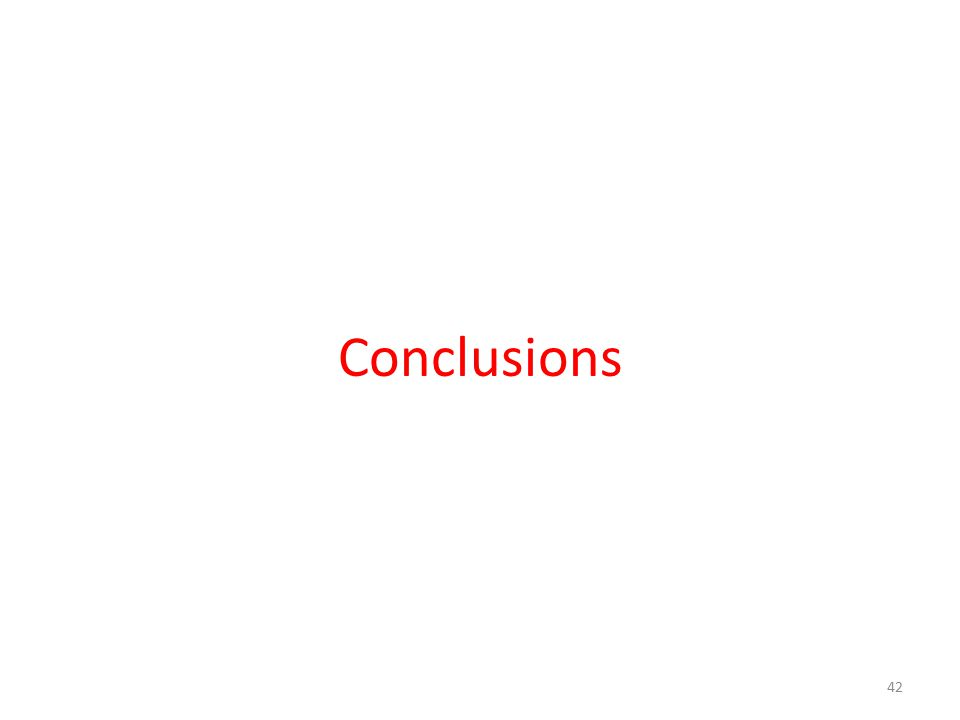 Conclusions 42