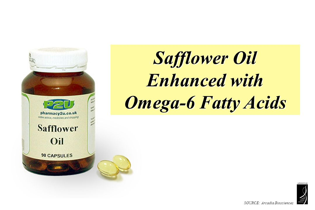SOURCE: Arcadia Biosciences Safflower Oil Enhanced with Omega-6 Fatty Acids