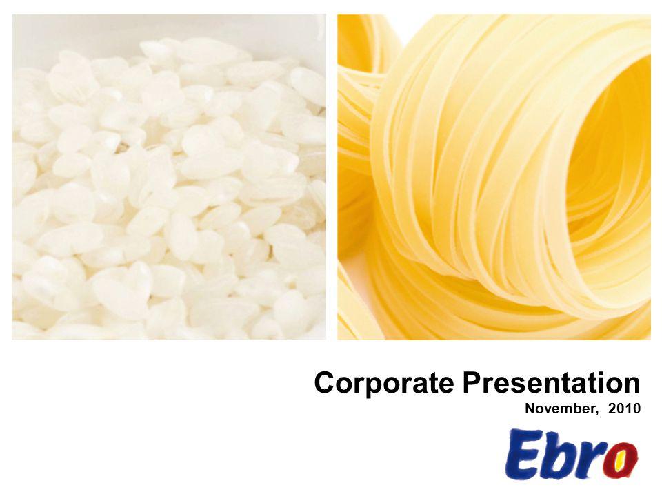 Corporate Presentation November, 2010