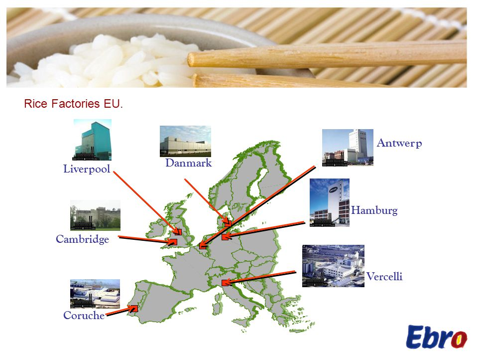 Hamburg Liverpool Antwerp Vercelli Coruche Cambridge Danmark Rice Factories EU.