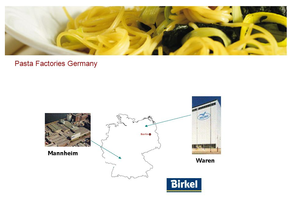 Pasta Factories Germany