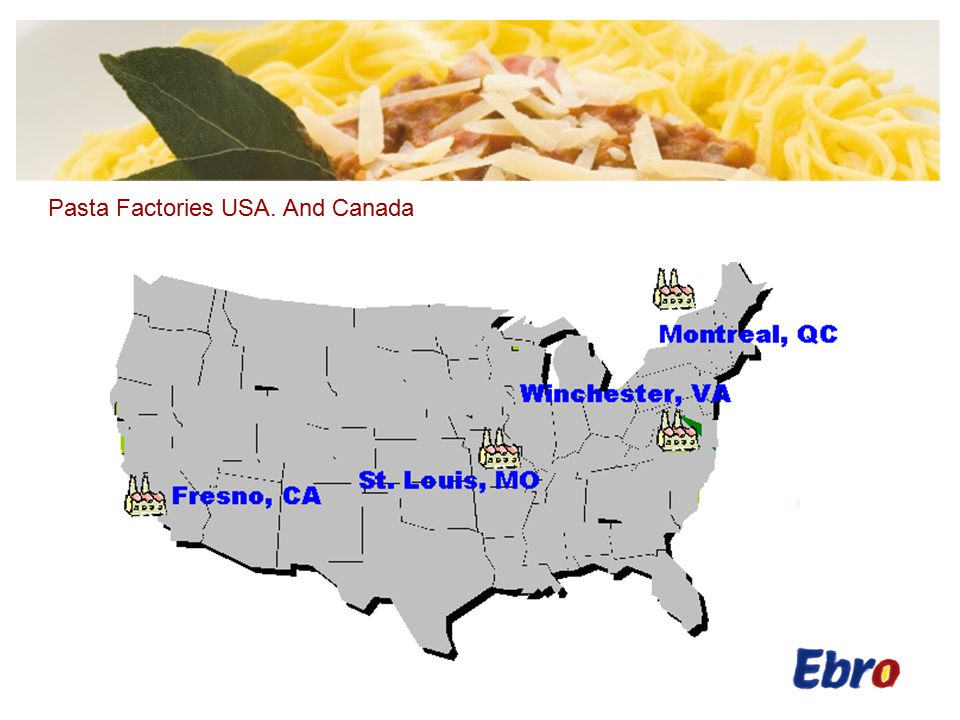 Pasta Factories USA. And Canada
