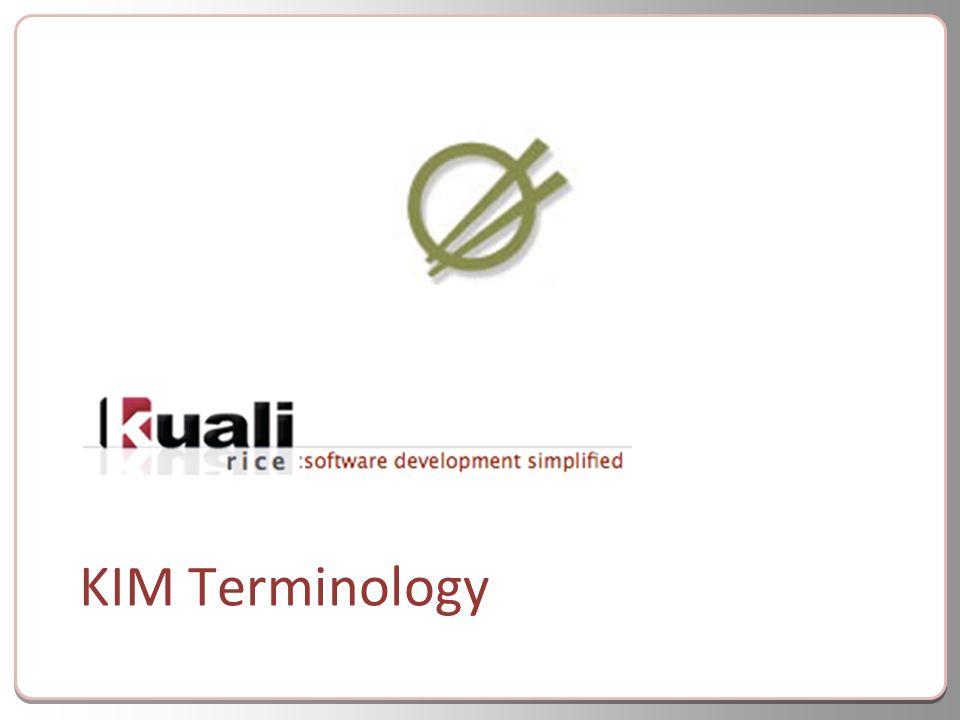 KIM Terminology
