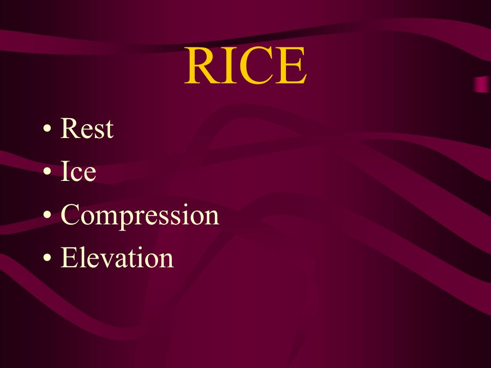 RICE Rest Ice Compression Elevation