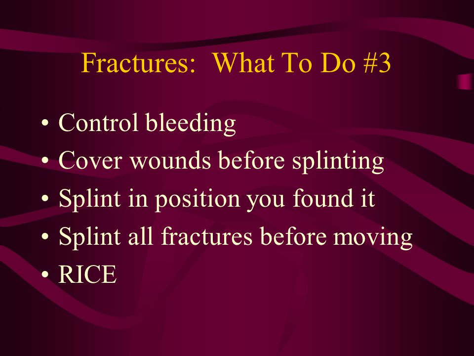 Additional Extremity Injuries Sprains Strains Contusions Tendonitis –Treat all with RICE