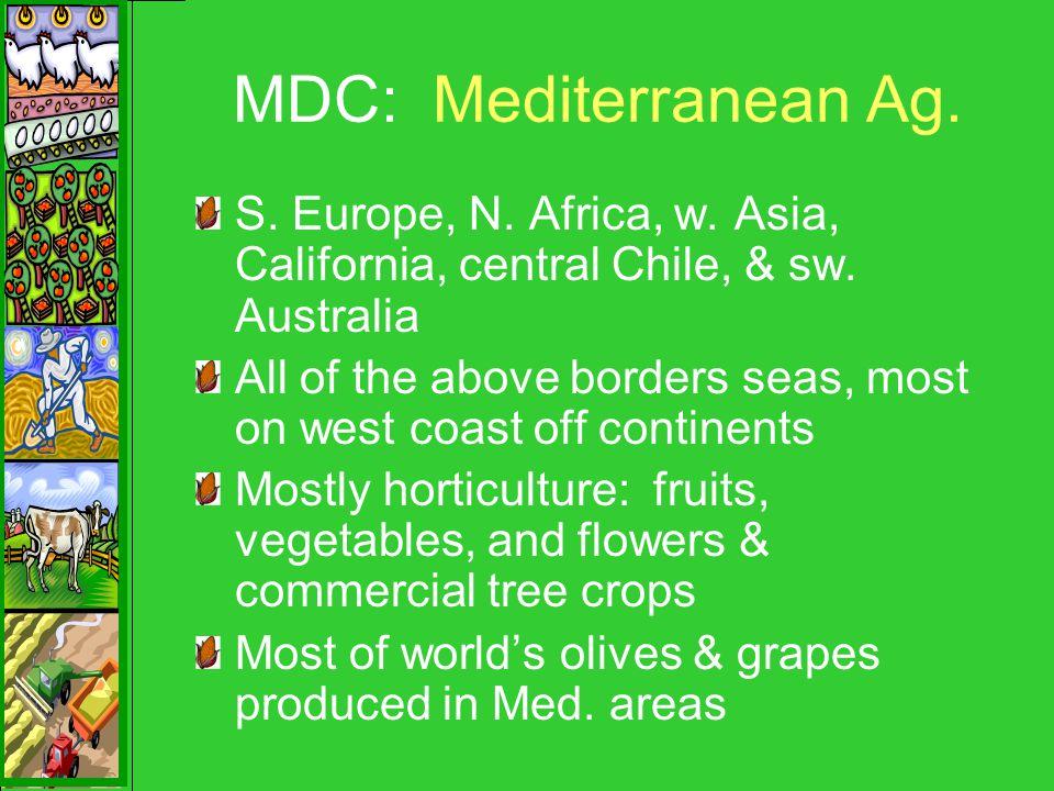 MDC: Mediterranean Ag. S. Europe, N. Africa, w.