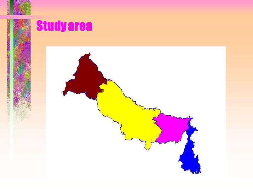 Indo Gangetic Plain Study area TGP UGP MGP LGP