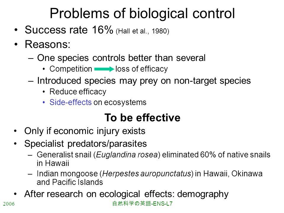 2006 自然科学の英語 -ENS-L7 References Charles J.Krebs, 2001.