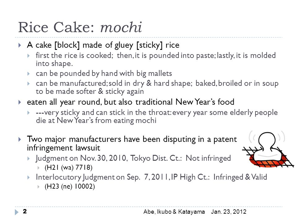 Rice Cake: mochi Jan.