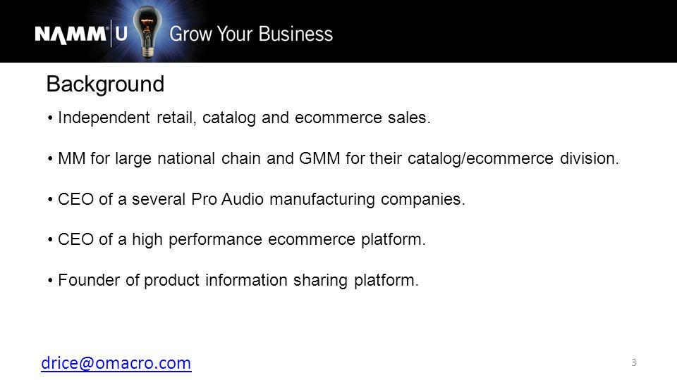 drice@omacro.com 24 CRM (Customer Relationship Management)