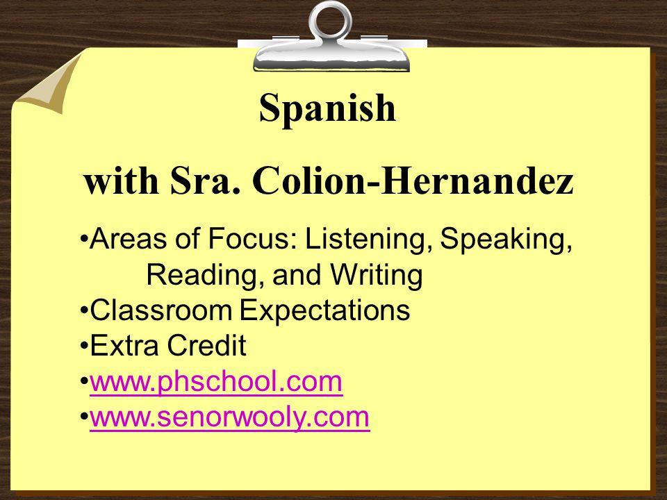 Spanish with Sra.