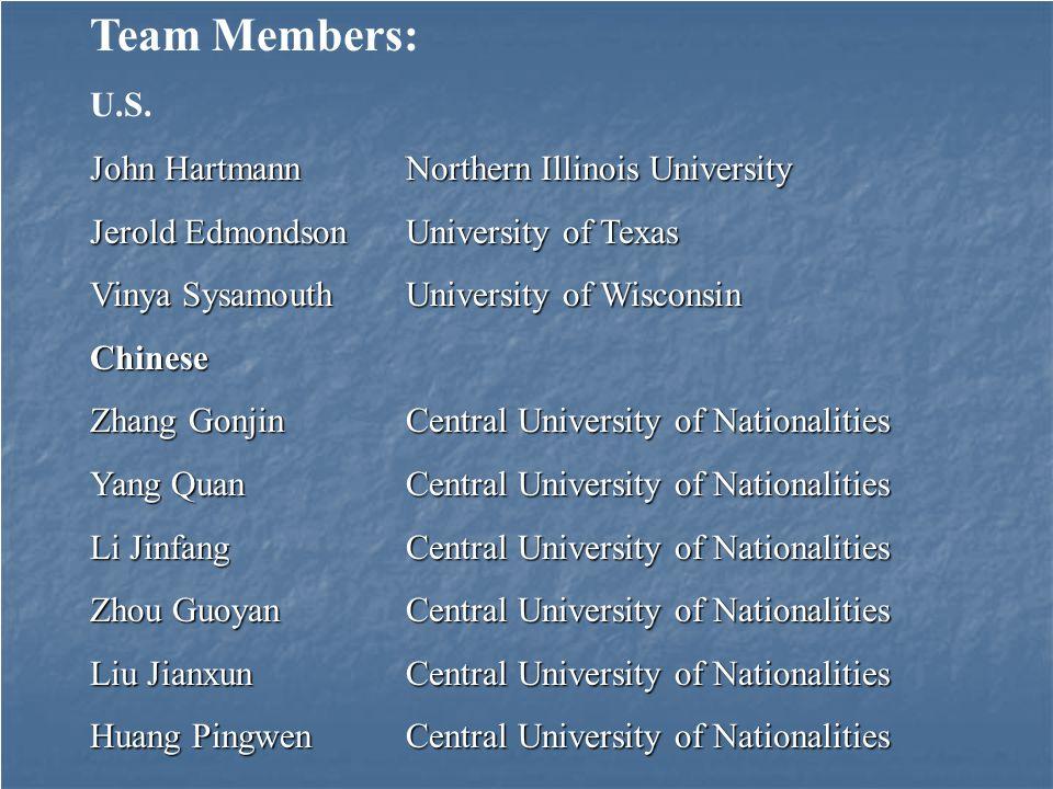 Team Members: U.S.