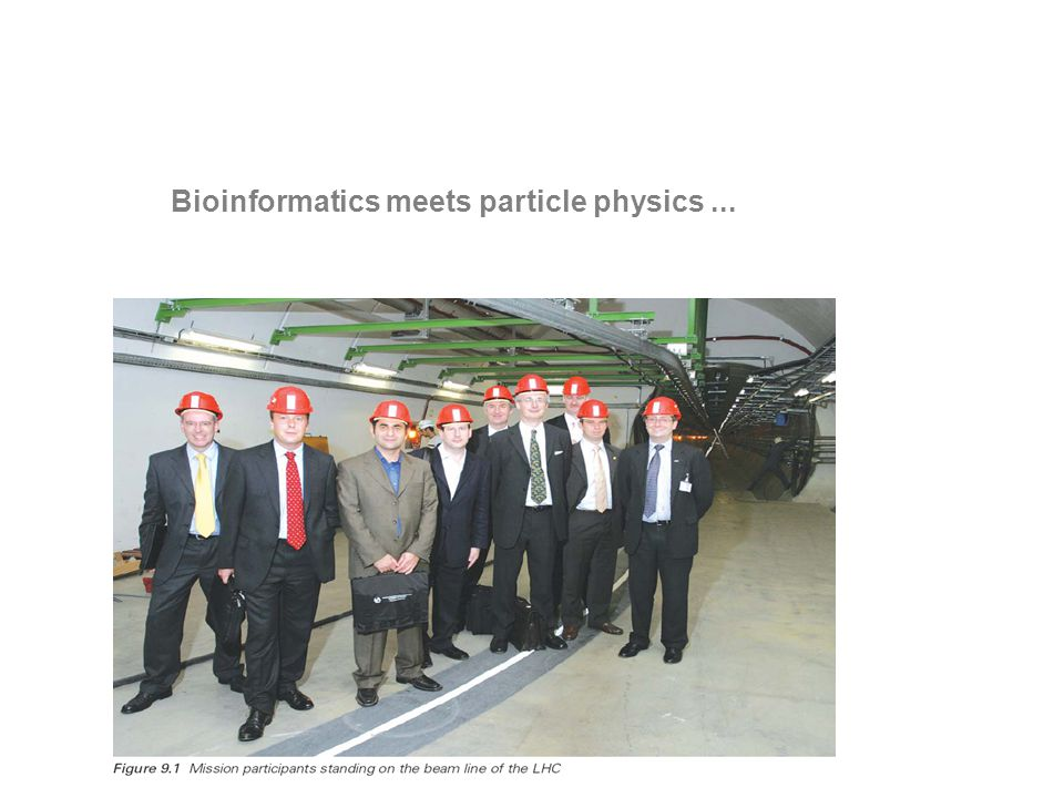 Bioinformatics meets particle physics...