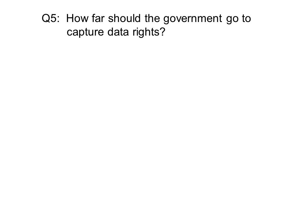 Q5: How far should the government go to capture data rights