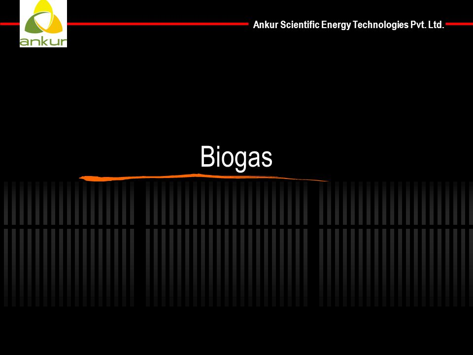 Ankur Scientific Energy Technologies Pvt. Ltd. Biogas
