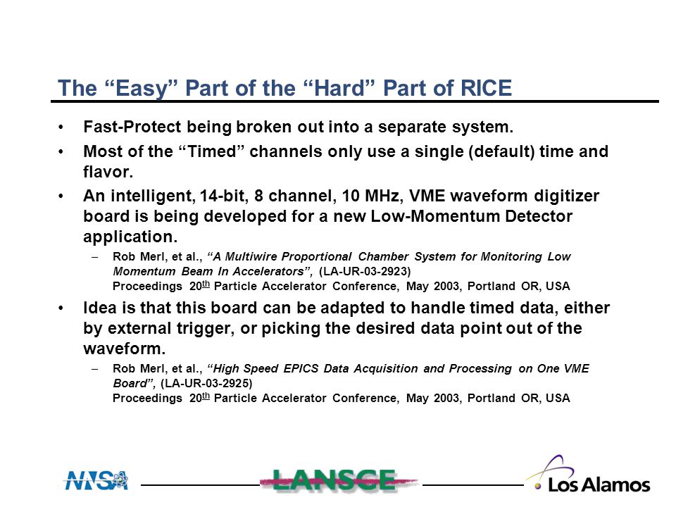 """The """"Easy"""" Part of the """"Hard"""" Part of RICE Fast-Protect being broken out into a separate system. Most of the """"Timed"""" channels only use a single (defau"""