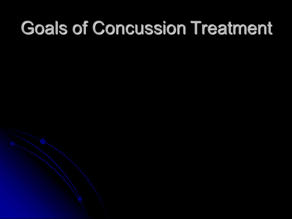 Goals of Concussion Treatment