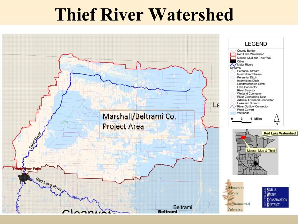 Thief River Watershed Marshall/Beltrami Co. Project Area
