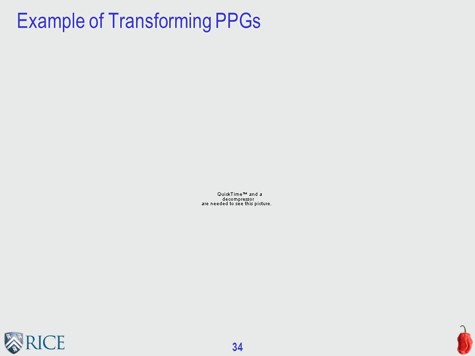 34 Example of Transforming PPGs