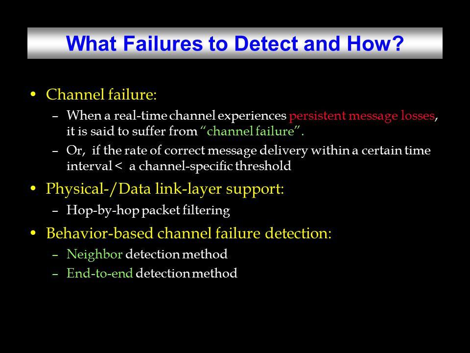 What Failures to Detect and How.