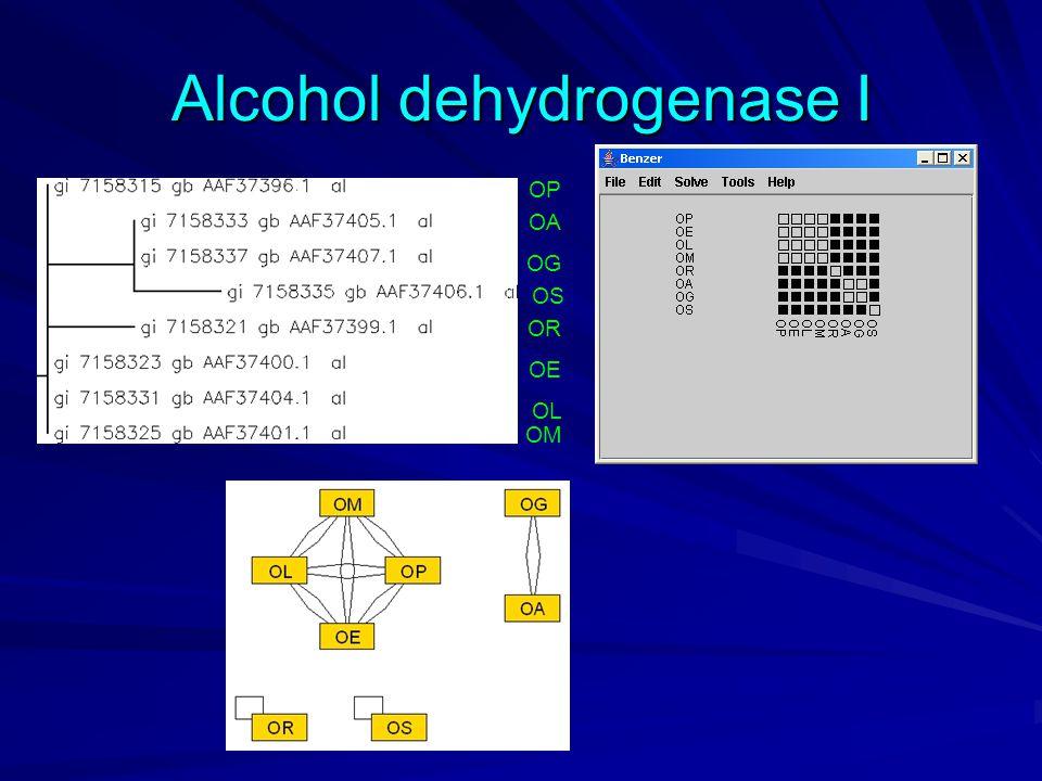 Alcohol dehydrogenase I OP OA OG OS OE OR OL OM