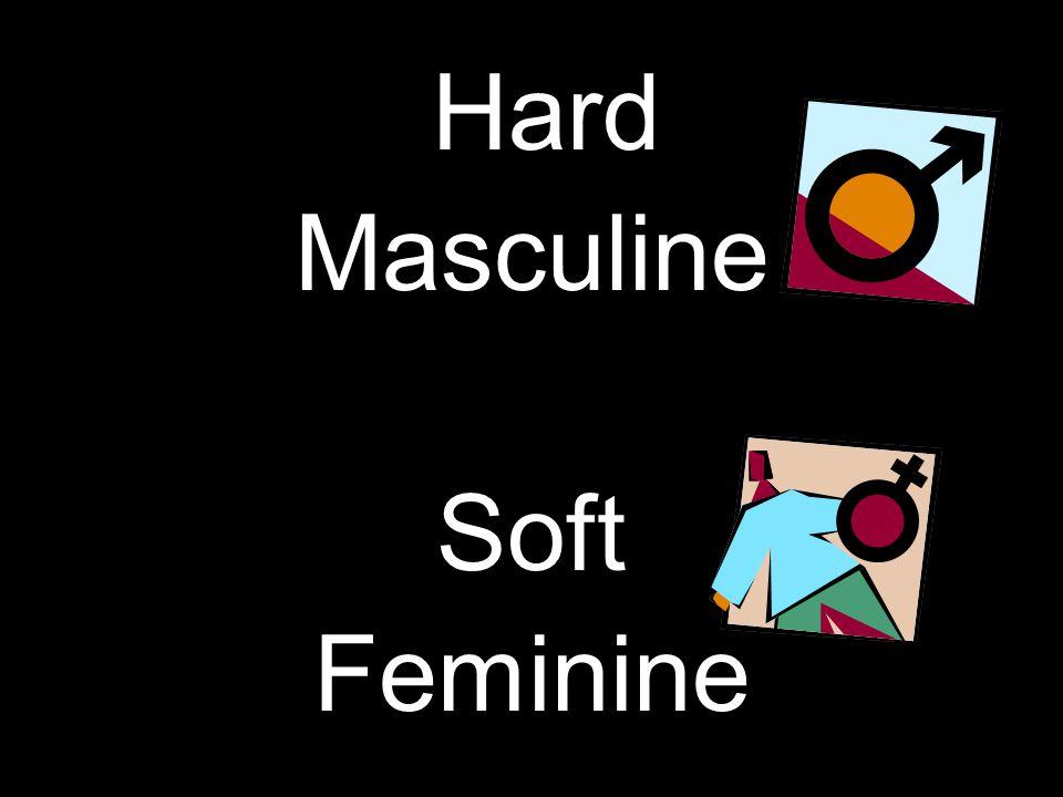 Hard Masculine Soft Feminine