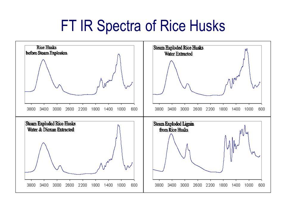 FT IR Spectra of Rice Husks
