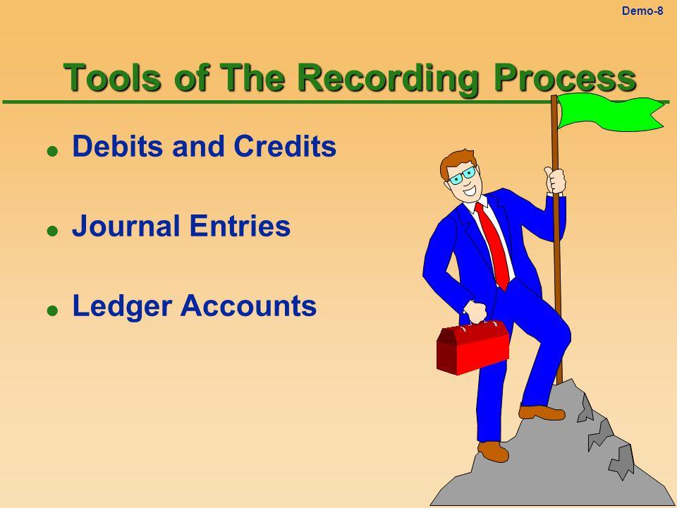 Demo-8 Tools of The Recording Process l Debits and Credits l Journal Entries l Ledger Accounts