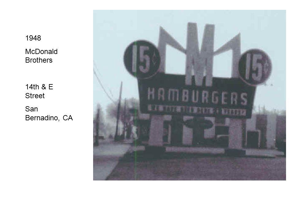 1948 McDonald Brothers 14th & E Street San Bernadino, CA