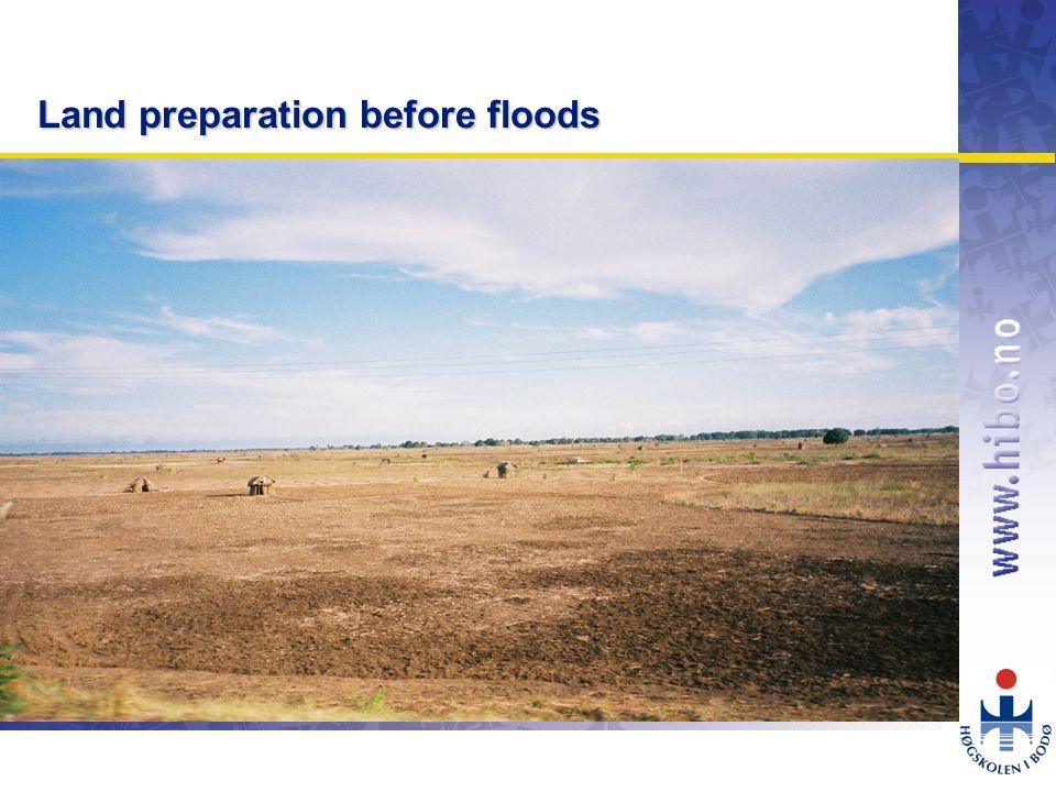 OMJ-98 Land preparation before floods