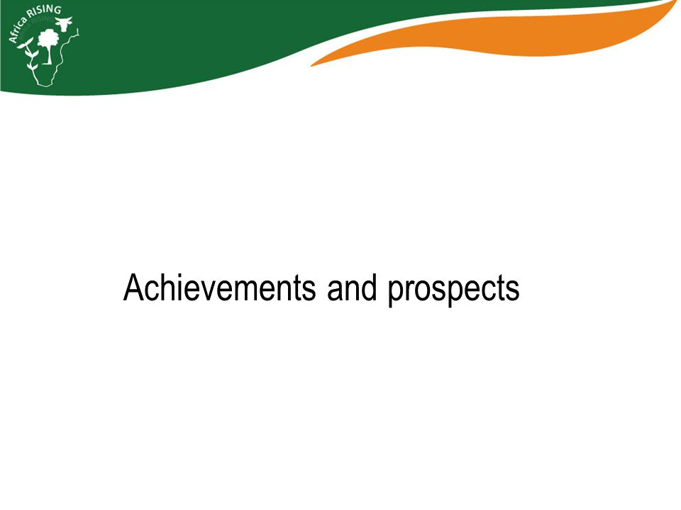 Achievements and prospects
