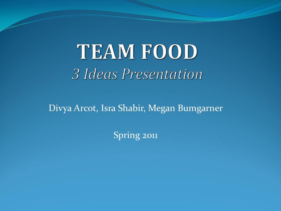 Divya Arcot, Isra Shabir, Megan Bumgarner Spring 2011