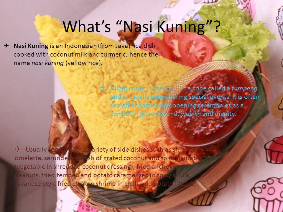 What's Nasi Kuning .