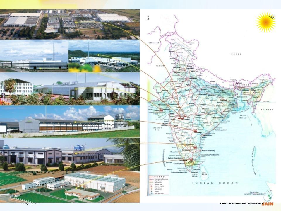 12 PADDY WITH DRIP at UDUMALPET, TAMIL NADU JAIN R&D FARM Method Yield ( t/ac) Water use (lac liter/ac) Power Use (units/ac) Flood3.195467 Drip3.832226 Difference% 22.566.352