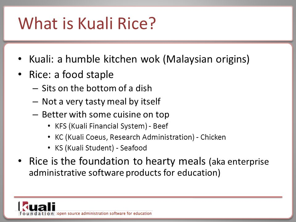 What is Kuali Rice.