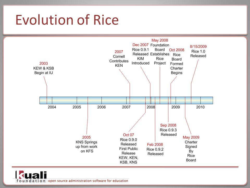 Evolution of Rice