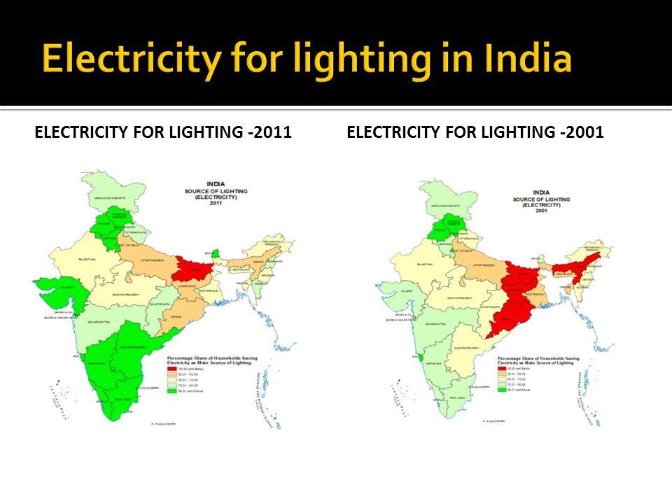 ELECTRICITY FOR LIGHTING -2011ELECTRICITY FOR LIGHTING -2001