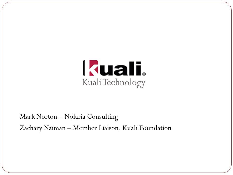 Kuali Technology Mark Norton – Nolaria Consulting Zachary Naiman – Member Liaison, Kuali Foundation